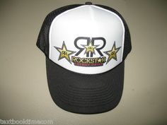05bf79a27 Rockstar Energy Drink Rock Star Energy Drink mesh trucker hat Baseball cap  lids Rockstar Energy Drinks
