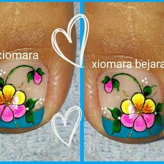 Diseño de pies Cute Pedicure Designs, Toe Nail Designs, Cute Pedicures, Pedicure Nails, Purple And Pink Nails, Simple Toe Nails, New Nail Art Design, Purple Trees, Toe Nail Art