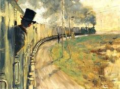 On the train   -    Johan Axel Gustaf Acke