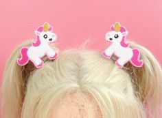 Unicorn Hair Clip  If you are like me, you have Unicorn crazy little girls in your life. Thats why I created these ENCHANTING Unicorn hair clips