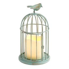One of my favorite discoveries at Christmas Tree Shops andThat! - Antique Birdcage Flameless Candle Lantern