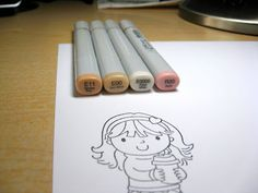 Coloring Faces with Copics by Kerri Michaud - Your Next Stamp