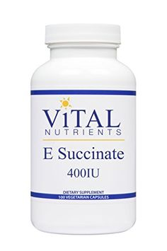 Vital Nutrients - E Succinate 400 IU - Naturally Derived Alpha Tocopheryl Succinate - 100 Capsules * Want additional info? Click on the image.