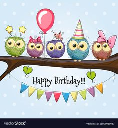 Find Five Owls On Brunch Balloon Bonnets stock images in HD and millions of other royalty-free stock photos, illustrations and vectors in the Shutterstock collection. Thousands of new, high-quality pictures added every day. Cute Happy Birthday Images, Birthday Images For Her, Happy Birthday Clip Art, Birthday Clips, Birthday Wishes Cards, Happy Birthday Quotes, Birthday Greetings, Brunch, Cute Owl