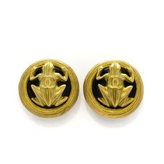 Vintage Chanel Clip-on Earrings, Gold Tone