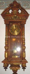 Gustav Becker - Fancy RA Regulator - Antique Clocks Guy