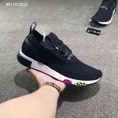 promo code 94db0 87f6b Adidas NMD 3 Racer Pk Core Black Pink Green White Really Cheap Shoe