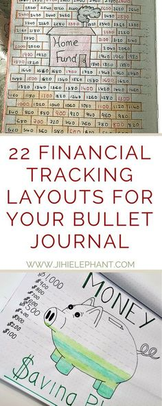 22 Financial Tracking Layouts for your Bullet Journal - Number One Finance Portal 2019 My Journal, Journal Prompts, Journal Ideas, Journals, Journal Themes, Notebooks, Bullet Journal Savings Tracker, Bullet Journal Finance, Bullet Journel