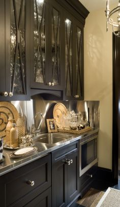 Cabinets for basement kitchen! Joy Tribout Interior Design