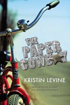 <2014 pin> The Paper Cowboy by Kristin Levine. SUMMARY:  In a small town near Chicago in 1953, twelve-year-old Tommy faces escalating problems at home, among his Catholic school friends, and with the threat of a communist living nearby, but taking over his hospitalized sister's paper route introduces him to neighbors who he comes to rely on for help.