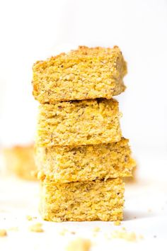 This vegan pumpkin cornbread recipe is made in just one bowl and uses only 10 ingredients. Doesn't use any dairy, gluten, eggs or refined sugar either!