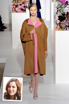 Jill Sander fw 2012 >> Give shocking-contrast-collar-print to Oversized Blue coat (already own)