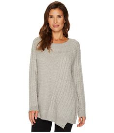 TWO by Vince Camuto Long Sleeve Smog Yarn Mixed Novelty Stitch Pullover