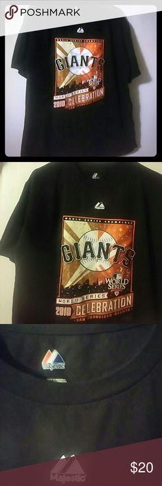San Francisco Giants 2010 World Series Celebration 2010 Celebration T SZ L Majestic Shirts Tees - Short Sleeve