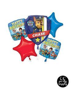 Paw Patrol Birthday Balloon Bouquet Balloon by OCPartySupply