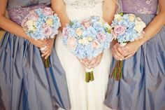 #Pretty pale blue and lilac ... Wedding ideas for brides, grooms, parents & planners ... https://itunes.apple.com/us/app/the-gold-wedding-planner/id498112599?ls=1=8 … plus how to organise an entire wedding ♥ The Gold Wedding Planner iPhone App ♥ http://pinterest.com/groomsandbrides/boards/