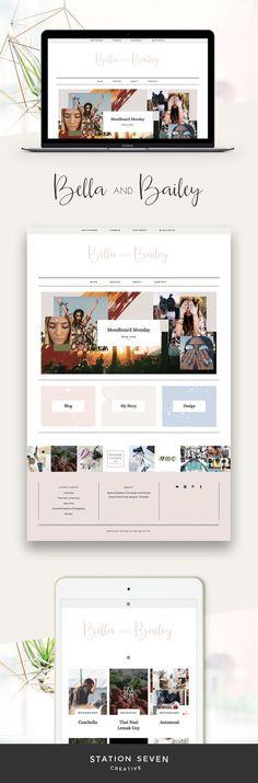 WordPress theme   Boho web design   Blog design   Girly web design   Click through to buy!