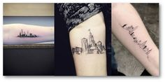 skyline - Tatuagem de viagem