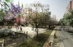 Parque Lineal Sagrera / Jordi Farrando,Render
