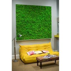 Including Moss Walls or Pictures within your workspace brings natural greenery in. Our Moss Walls create a remarkable visual impact and can transform any space Moss Fashion, Interior Fit Out, Moss Art, Bright Green, Floor Chair, Living Spaces, Indoor, Modern, Furniture