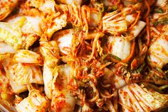 Recipe: kimchi Summer is taking her sweet time getting to the Colorado high country, and I'm fine with that. Kimchi Recipe, Snack Recipes, Snacks, Fritters, Recipe Using, Pickles, Cabbage, Butter, Drinks