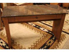 Faux Marble Top Desk