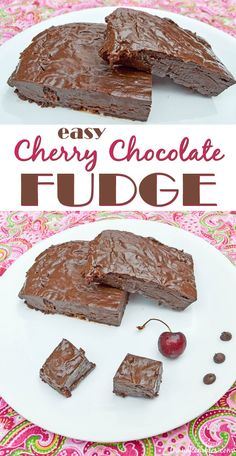 Easy Microwave Cherry Chocolate Fudge #dan330 http://livedan330.com/2015/08/03/easy-cherry-almond-microwave-fudge/