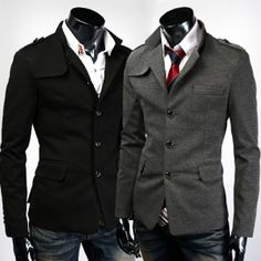 Love the pea coat with tie!