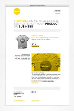 10 best mailchimp templates images on pinterest email newsletter minimal html email template 2 email template design html email templates layout template maxwellsz