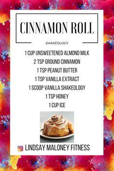 Cinnamon Roll Shakeology-- Vanilla Shakeology Recipe-- Dessert Shakeology #BeachBodyDetoxDiet