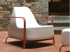 Upholstered fabric garden armchair BIGFOOT   Garden armchair - FAST