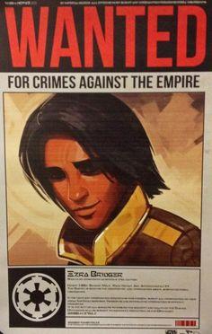 Star Wars Rebels- Ezra Wanted Poster