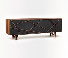 Terry Zappa and Marconato Maurizio Brave Cabinet - Brave is a high end and structured console. In break with the beautiful and wide panels of the massive wood, exclusive lines collide in a disordered way to bring a contemporary dynamism to the furniture. Cabinet Furniture, Furniture Makeover, Wood Furniture, Modern Furniture, Furniture Design, Furniture Hinges, Sideboard Cabinet, Wine Credenza, Armoire Design