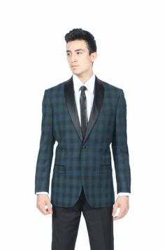 weddingstuffyouwant.unlimitedproductsolutions.com Men's Premium Slim Fit 1 Button Shawl Tuxedo Collection - Many Colors (34 Short, Teal Plaid) Ferrecci,http://www.amazon.com/dp/B00I5R6ZF4/ref=cm_sw_r_pi_dp_ZOAktb1E60MAN86D