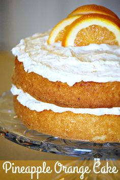 "Pineapple Orange Cake  ""Summer perfection in every bite!"""