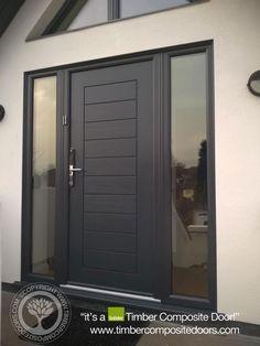 Solidor Timber Composite Doors 12 Months Interest Free Credit by Timber Composite Doors Real Pictures, Real Homes, Real Doors,… Modern Entrance Door, Modern Exterior Doors, Modern Front Door, Front Door Entrance, Exterior Front Doors, Modern Porch, House Front Door, Front Door Design, Front Door Porch