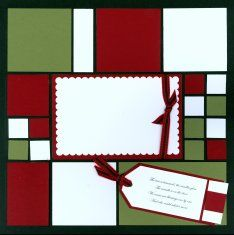 Mosaic Christmas Scrapbook page kit Noel with Christmas Candle