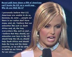 Go home Miss America Contestant, you're drunk.
