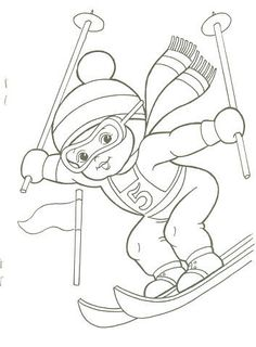 T T boy skiing