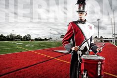 Senior Portrait / Photo / Picture Idea - Musician - Marching Band - Drummer / Drums / Drumline / Snare