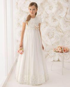 Vestidos de primeira comunhão clássicos, elegantes e únicos para meninas.