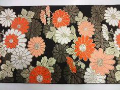 川島織物製 菊尽くし模様織り出し袋帯着物 Vintage Kimono, Yukata, Wraps, Japanese, Artist, Japanese Language, Artists, Rolls, Rap