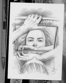 Abstract Pencil Drawings, Dark Art Drawings, Realistic Drawings, Girl Drawing Sketches, Art Drawings Sketches Simple, Creative Pencil Drawings, Nature Sketches Pencil, Amazing Sketches, Beautiful Sketches