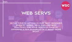 """In the fourth article in our """"Best Designed Website"""" series, we'll explore best practices for your Services page by offering a few examples of it being done right. Email : sales@websolutionscompany.com.au #Designindelhi #Designindia #Designindelhi #Designindindia #DesignMelbourne #DesignAgencyMelbourne #websolutionscompany #wsc Best Practice, Design Agency, Explore, Website, Exploring"""
