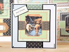 Make beautiful animal themed cards with the Pollyanna Pickering Farmyard Days Collection! / cardmaking / papercraft / scrapbooking / farmyard animals