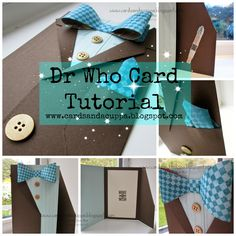 Stampin' Up UK Demonstrator Sarah-Jane Rae Cards and a Cuppa blog: Dr Who Bow Tie Card Tutorial with Stampin' Up! Supplies.
