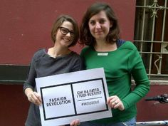 Martina and Giulia wear it #InsideOut for Fashion Revolution Day 24.04.14 @Fash_Rev