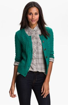 Caslon® Cable Cardigan available at #Nordstrom
