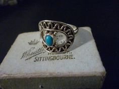 A stunning and unique turquoise ring - 925 - Sterling silver - UK Q - 8.25 US by MalvernJewellery on Etsy