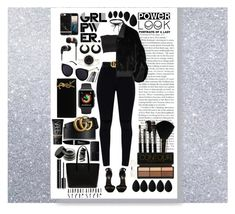 """#Black Beauty Babe"" by mxogirl ❤ liked on Polyvore featuring Palm Beach Jewelry, Effy Jewelry, Yves Saint Laurent, Gucci, House of Fluff, Stupell, Lacoste, NARS Cosmetics, Max Factor and Glamour Status"